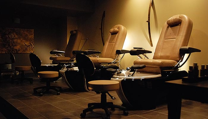 An image of the Bodhi Tree Spa's pedicure room