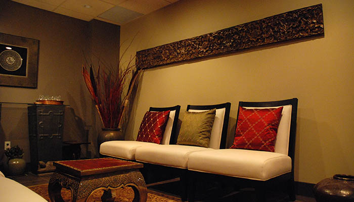 The reception area at the Bodhi Tree Spa.